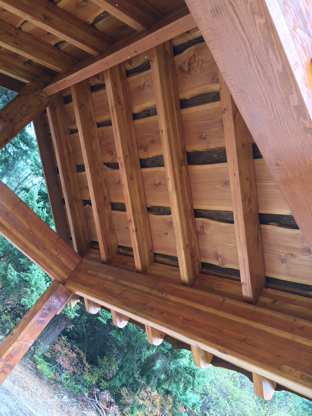 Looking up standing underneath it...