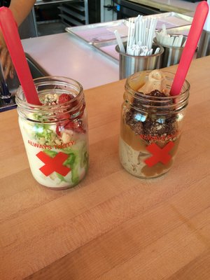 TRove Strawberry shortcake and Mudslide parfaits...