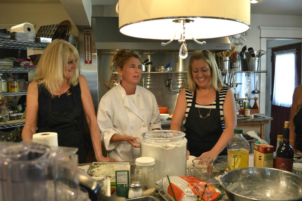 Jill, chef Kary, and Heidi.