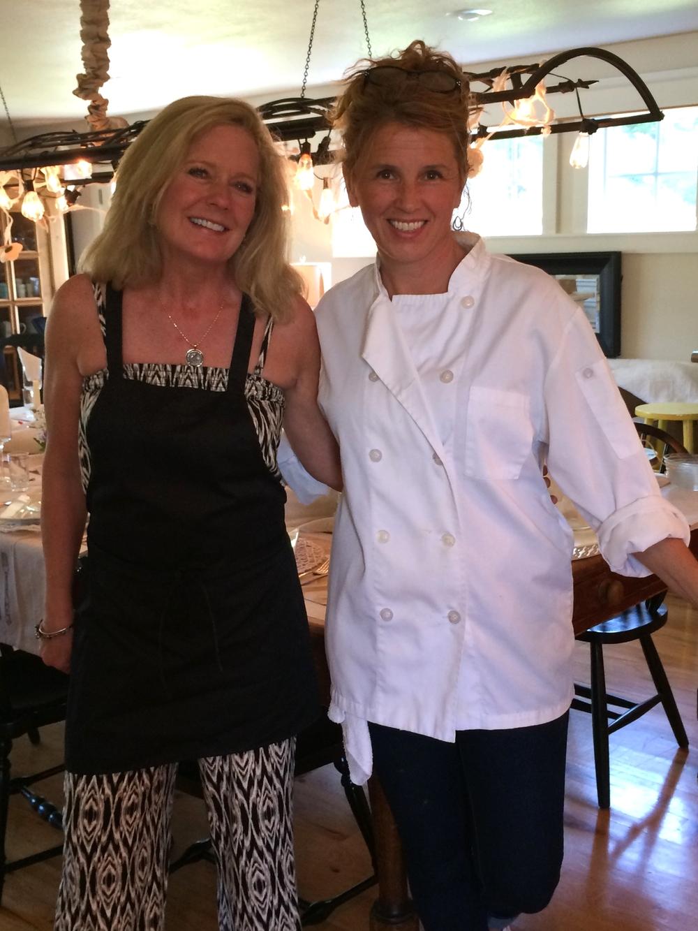 Birthday girl, Rhonda, and our chef, Kary.