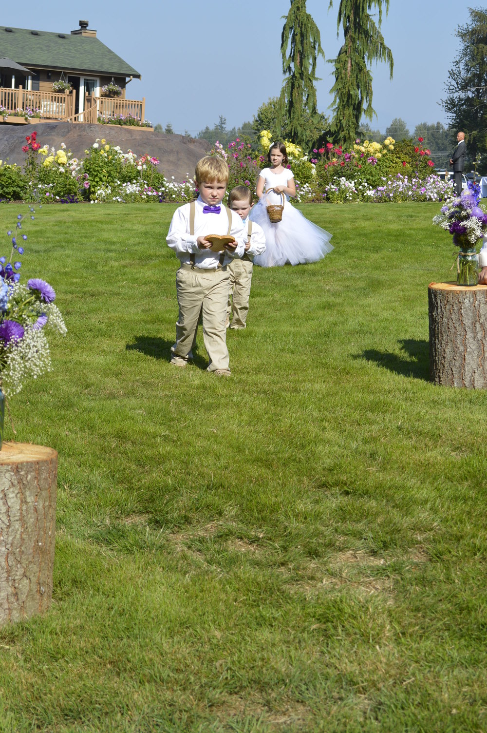 The two ring bearers and the flower girl...
