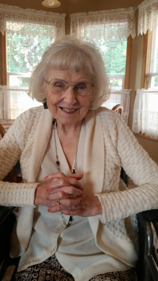 Aunt Shirley, beautiful still at 95!