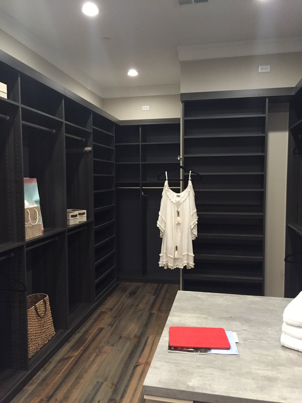 Master closet with built ins...