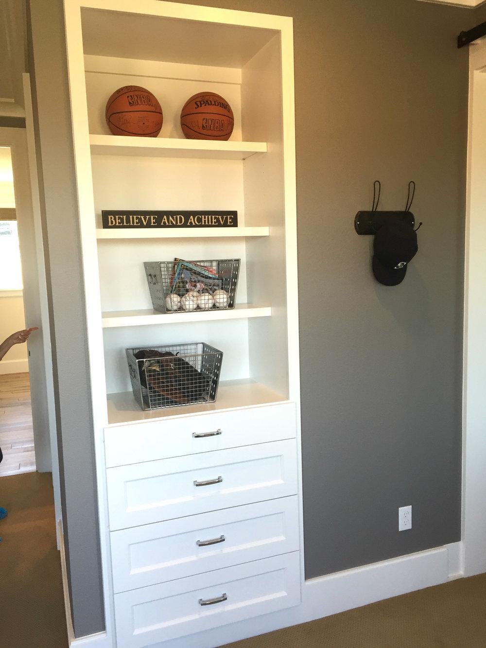 Built in dresser...