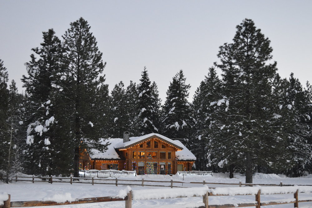 A beautiful log home down the road from us in Plain...