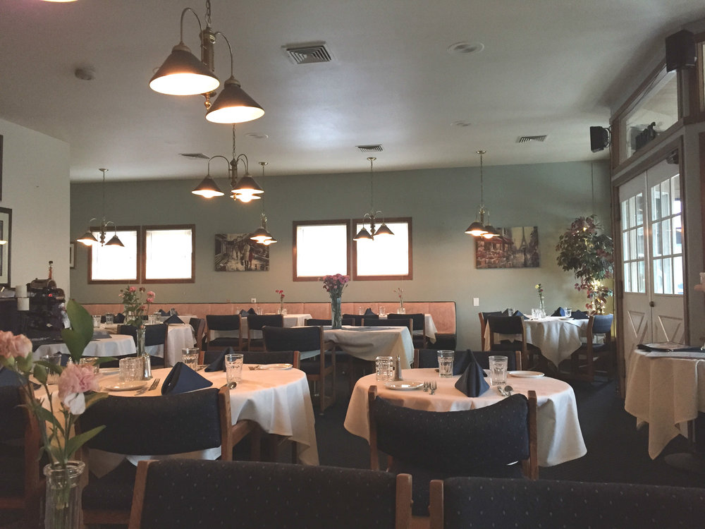 Simple, yet classic,interior of Cafe de Paris...