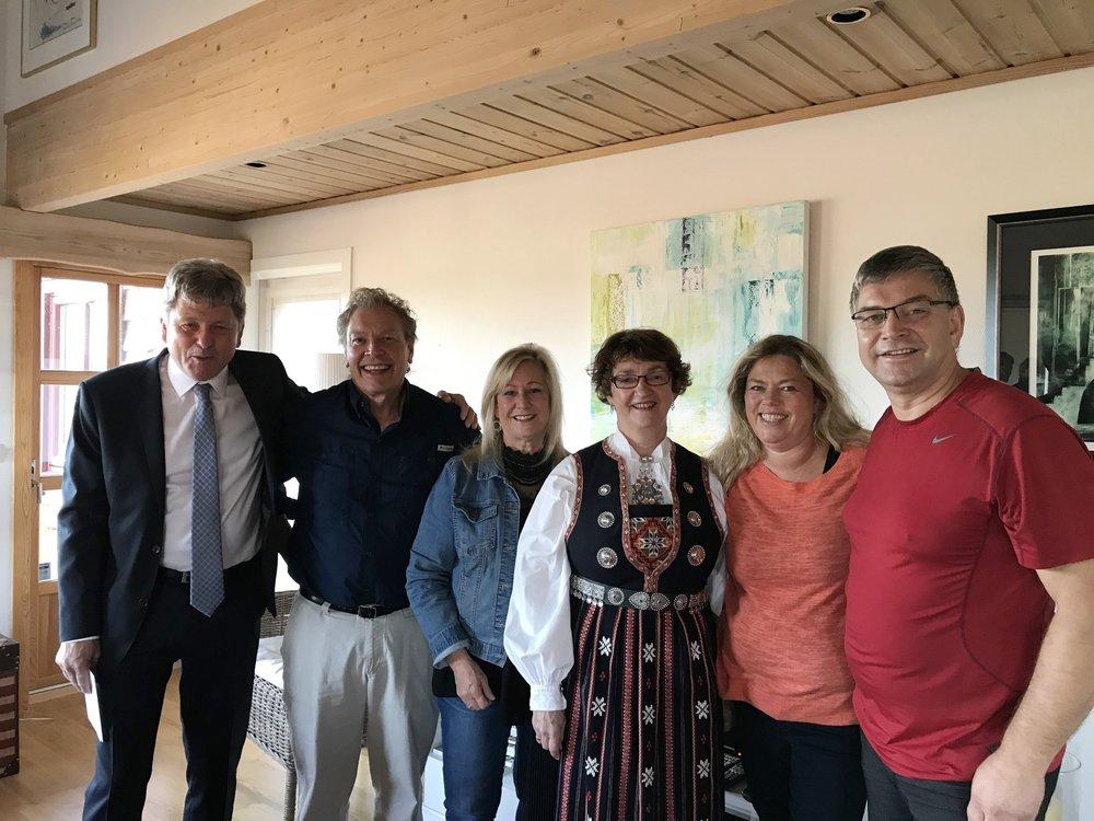 Svein, Lyle, Lois, Kirsten, and our wonderful hosts, Eva and Svein...