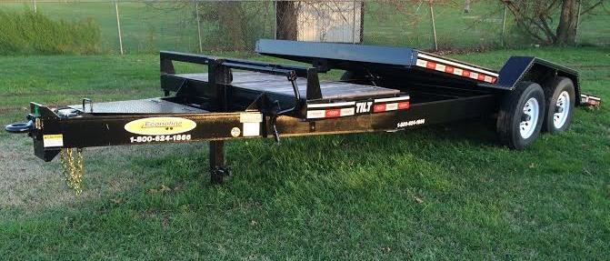 """21' x 80"""" Tilt Bumper-Pull with 7K Axles & Locking Chain Box"""