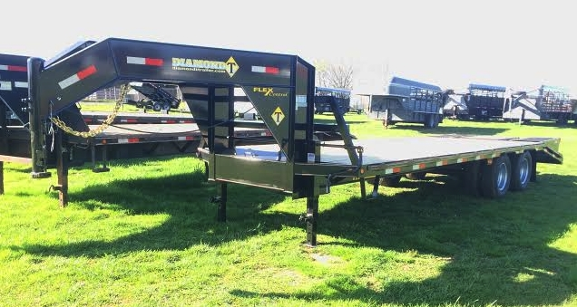 "32' x 102"" Flatbed with 10K Axles and Pop-up Dove Tail"