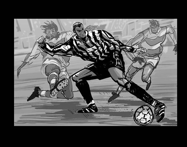 Warm up doodle of Zidane vs Parma while watching juve vs. Parma. #zidane #zizou #juventus #juve #parma #doodle #sketch #drawing #football #art #soccer #seriea #calcio