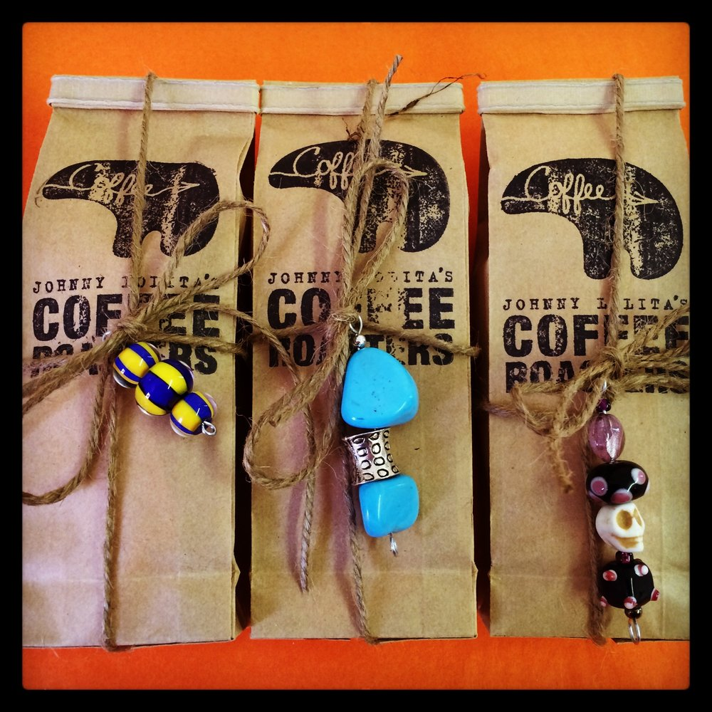 Mini coffee bags for birthday party