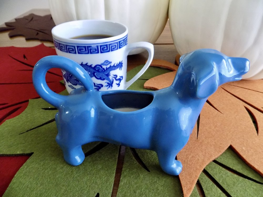 One of my favorite ceramic creamers...a dachshund!
