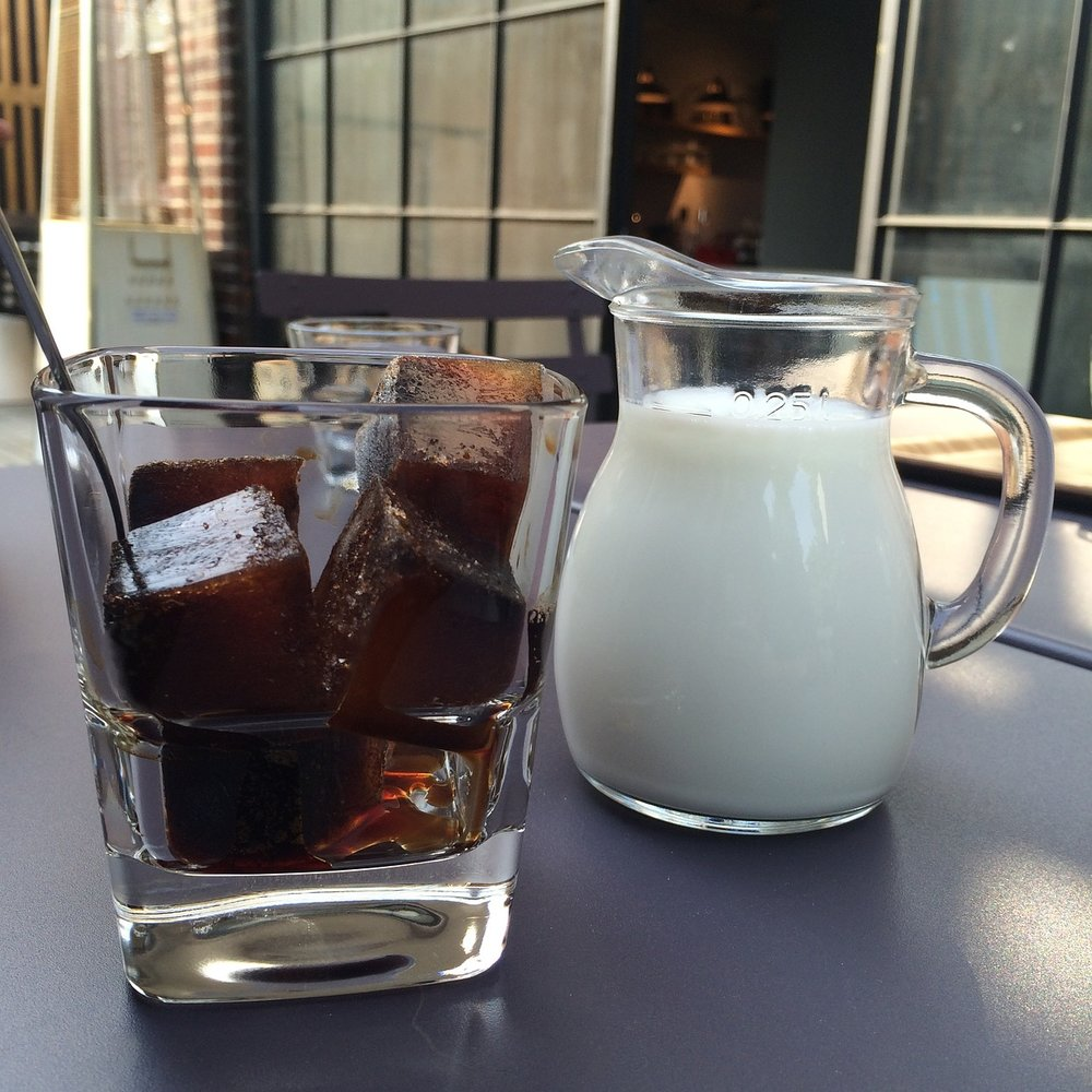 Make cold brew ice cubes so you don't water down your drink. Add some milk too.Options!