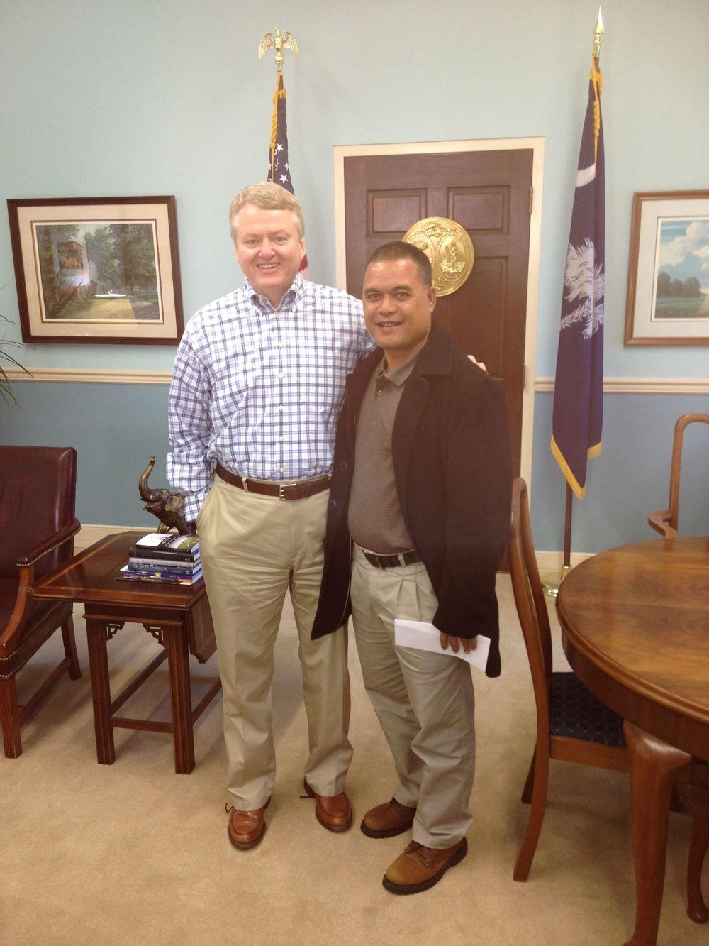 Waa'gey's Larry Raigetal and Curtis Loftis Treasurer of South Carolina.jpg