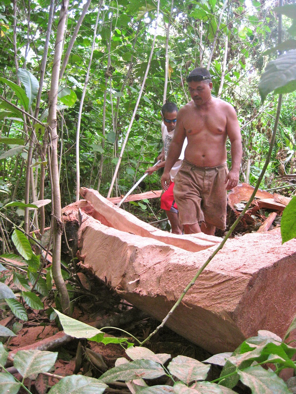 Waagey Canoe Carvers in Jungle Yap State Micronesia.jpg