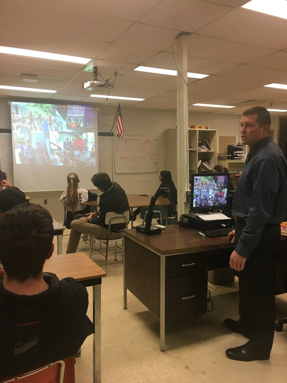 Power Hawks Robo Club of Edgewater Maryland learn about Micronesia.