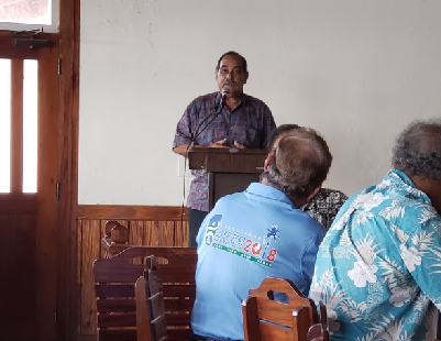 President Christian shares remarks with Yap State Government & FSM TC&I officials