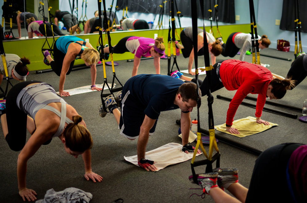 A little core work using TRX suspension training.