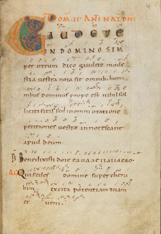 Einsiedeln, Stiftsbibliothek, Codex 121(1151), p. 7 – Graduale – Notkeri Sequentiae