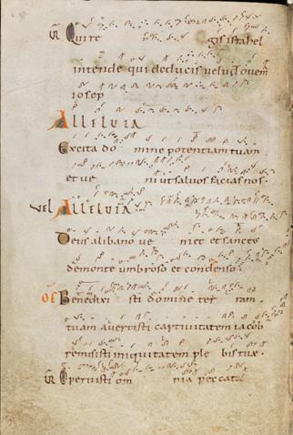 Einsiedeln, Stiftsbibliothek, Codex 121(1151), p. 8 – Graduale – Notkeri Sequentiae