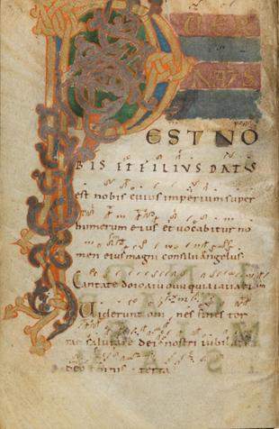 Einsiedeln, Stiftsbibliothek, Codex 121(1151), p. 30 – Graduale – Notkeri Sequentiae