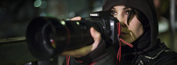 Lisbeth holding a camera