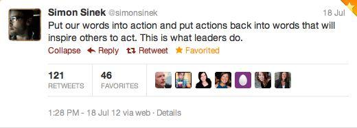 Tweet SimonSinek