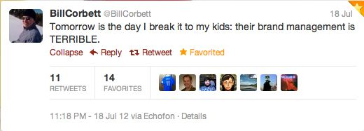 Tweet BillCorbett