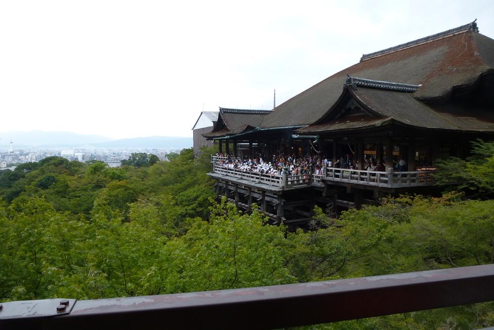 Overlooking Kyoto at Kiyomizudera Temple