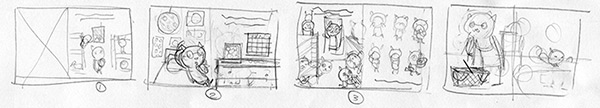 Incredibly small and rough page layouts - they might read as a mess to you, but they make sense to me!