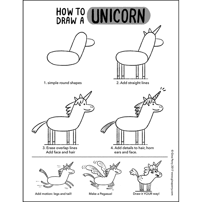 HOW-TO-DRAW: Unicorn