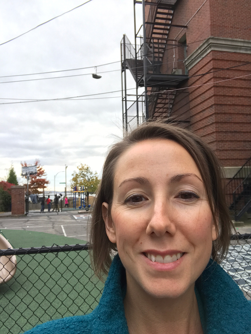 Phew, I did it! Love their playground with a view of the water. Thanks for having me, Perry School!
