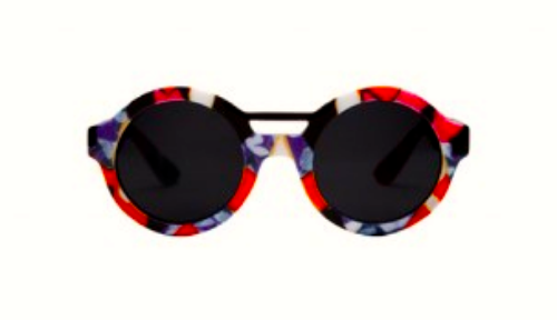 Sunglasses in Red Iris Print, $16.99