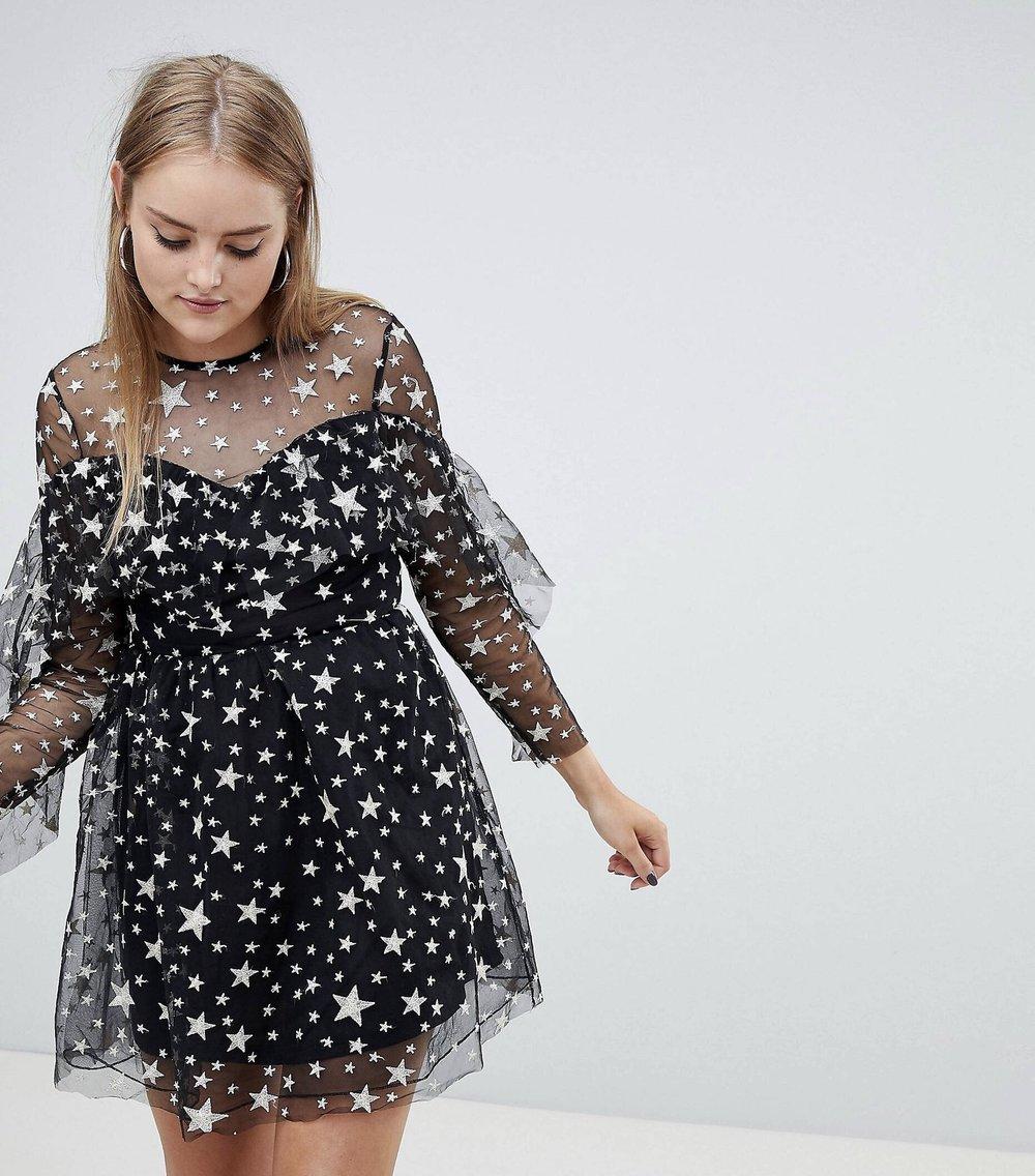 Ruffle Trim dress, Boohoo, $26.  Find it  here .