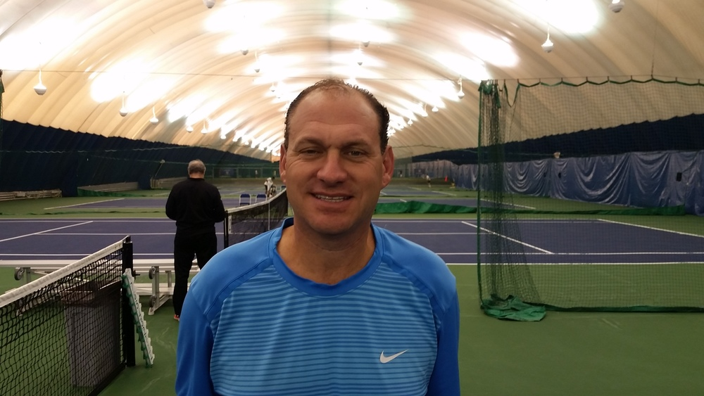 Robbie Davis, is a Certified USPTA Teaching Professional and he is one of our Adult Saturday Night Tennis Party Organizer.  Once you meet Robbie you will never forget him.  He is fun and always has a smile.