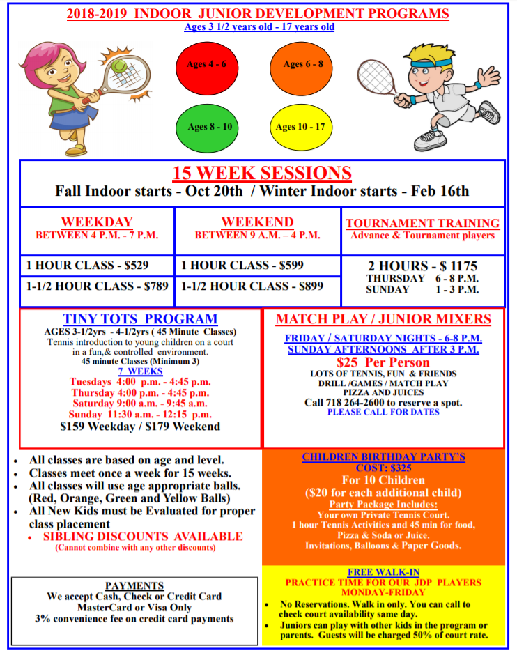 Children Classes Tiny Tots Programs Alley Pond Tennis