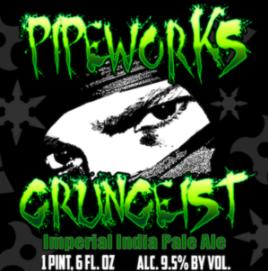 PIpeworks Grüngeist IIPA brewed with Grüngeist hops from Hop Head Farms 9.5% ABV