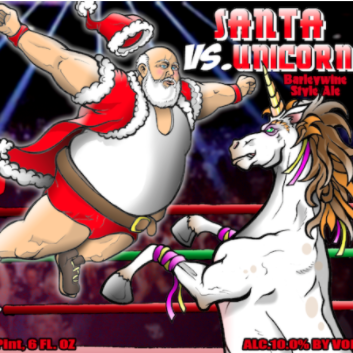 Santa vs Unicorn Hoppy Barleywine