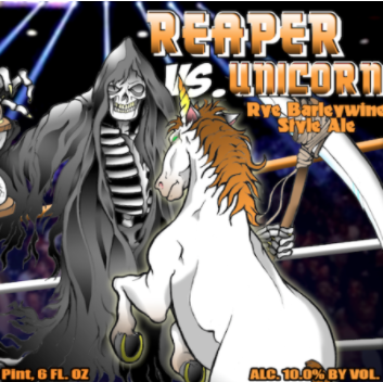 Reaper vs Unicorn Hoppy Rye Barleywine