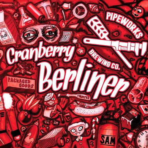 Cranberry Berliner Berliner Weisse brewed with cranberries, orange peel, and saison yeast