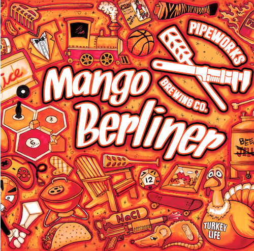 Mango Berliner  Berliner Weisse brewed with mangos, amchoor, and hefeweizen yeast