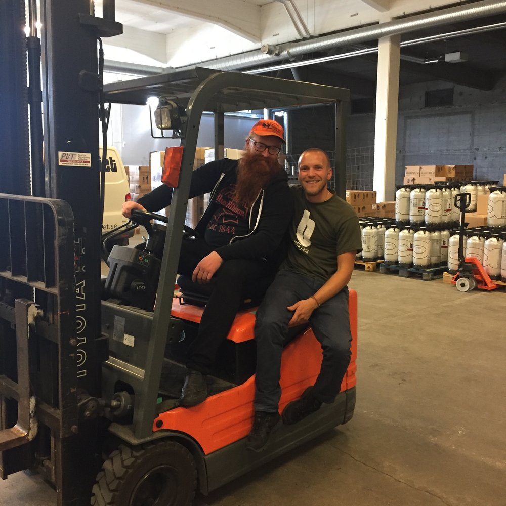 Joe's dream of driving a forklift in a foreign land is realized thanks to Brekeriet. Pic: Metal Steve