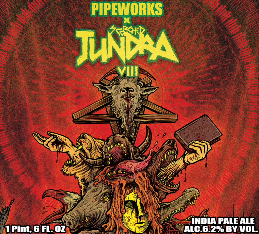 Label for Pipeworks x Scorched Tundra collab