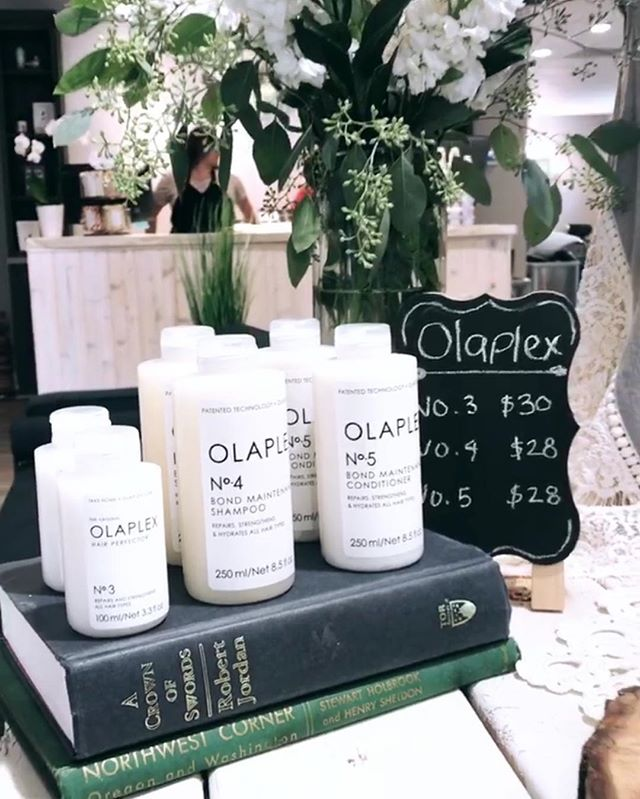 Is your hair chemically processed, dry, and brittle?⠀ ⠀ You need Olaplex. This doesn't just give the appearance of healthy hair- it actually gives you healthy hair. Olaplex goes into your hair cortex and works from the inside out to heal broken bonds created by heat damage, chemical damage or environmental damage.⠀ ⠀ Pick it up today or call to have us set aside a set just for you! #treatyoself⠀