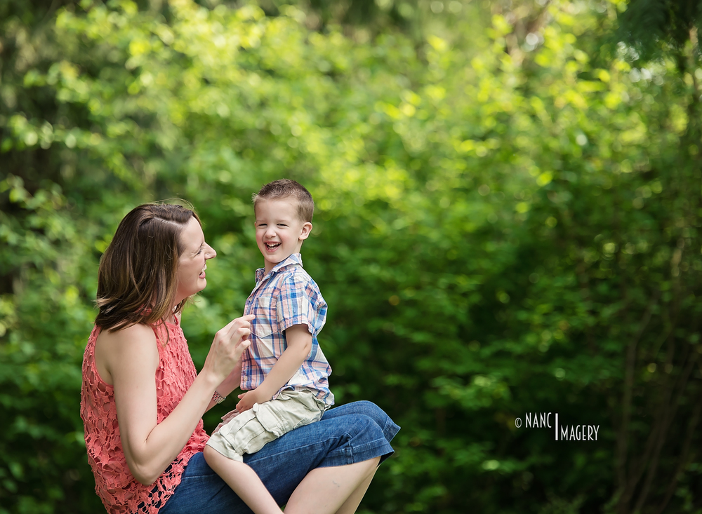Momma and son, Nanci Imagery