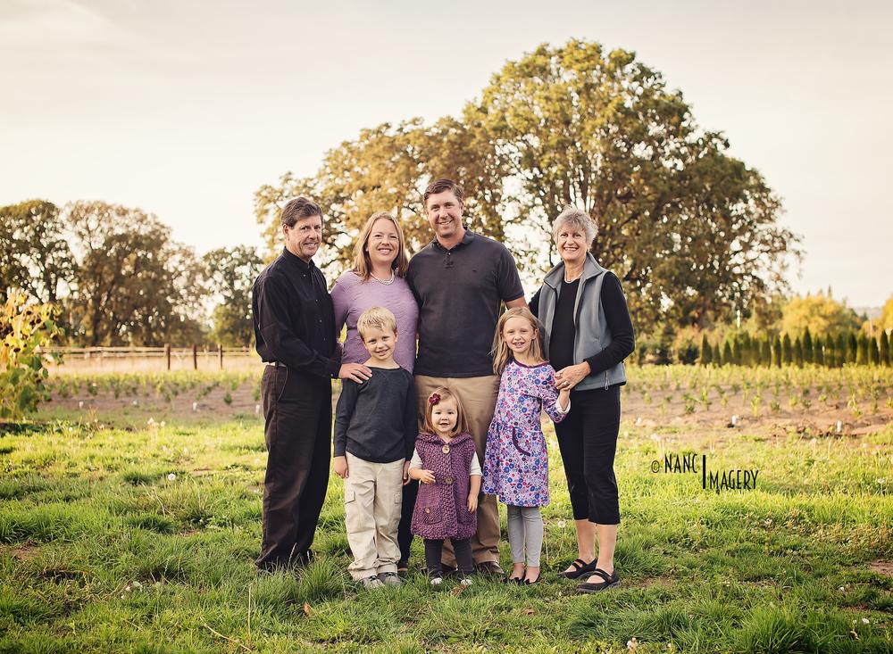 Family portraits, Newberg, Oregon