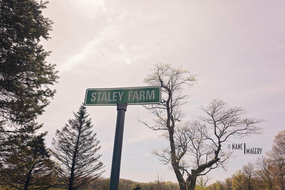 Staley Farm sign