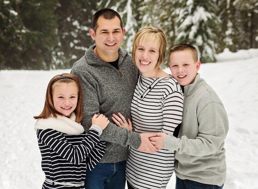Family Snow Portrait