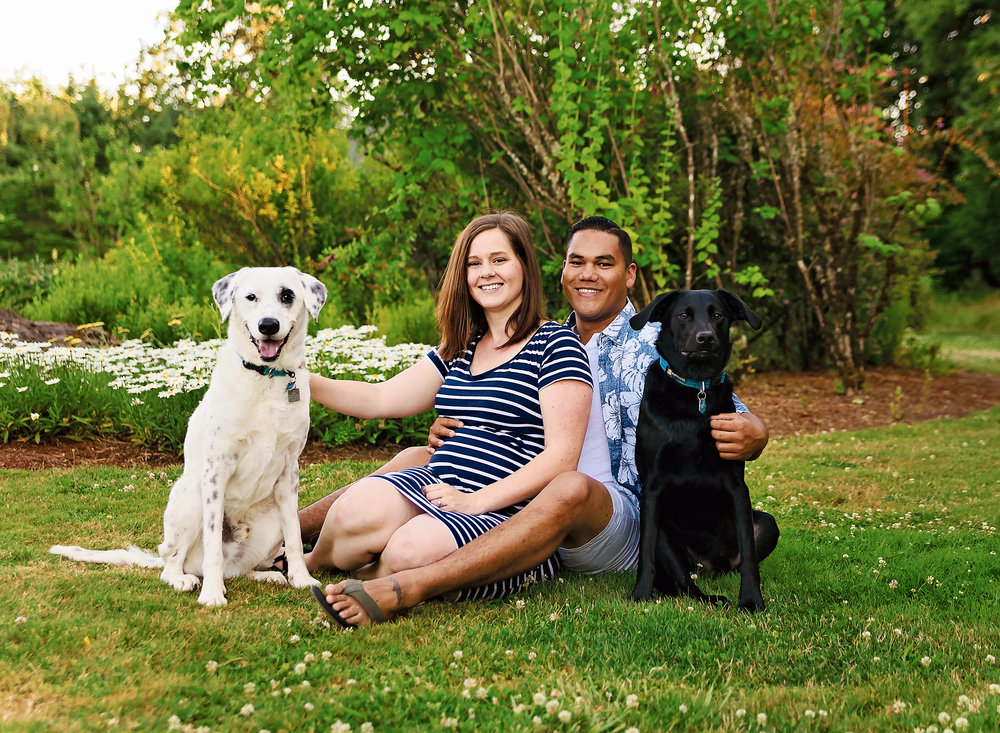 Summer Maternity Portraits with Furbabies