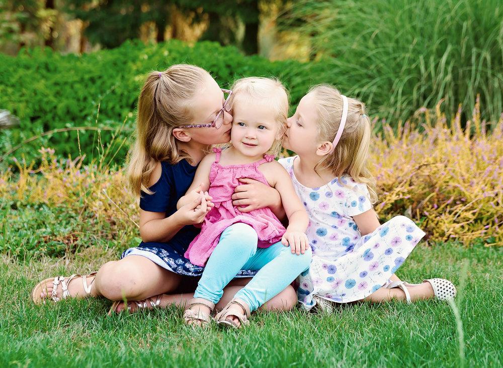 Three sisters portraits
